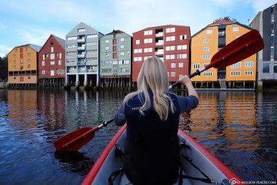 Kayaking in Trondheim