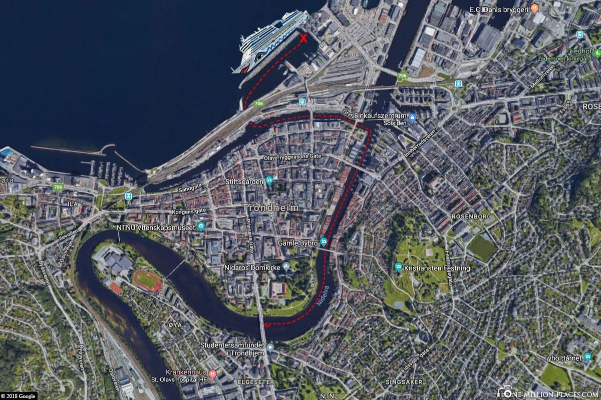 Trondheim, Kayak, AIDA, Excursion, Norway, THM10: Kayaking on the River Nidelva