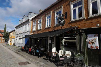 Bars and cafés in the Bakklandet district