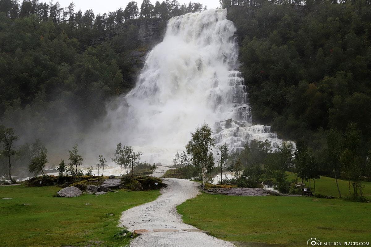 Tvindefossen, Wasserfall, Norwegen, Eidfjord