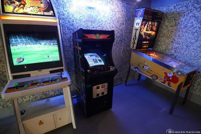 A few slot machines