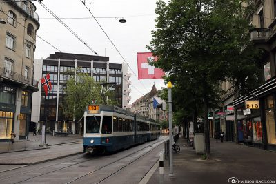 The Bahnhofstrasse in the city centre
