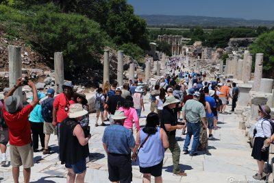 So voll kann es in Ephesos werden