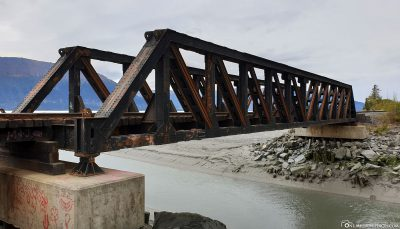 Eisenbahnbrücke über den Bird Creek