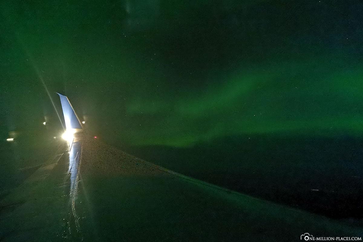 Polarlichter, Flug Alaska, Reisebericht