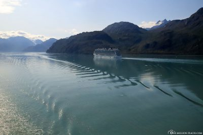 Another cruise ship in Glacier Bay