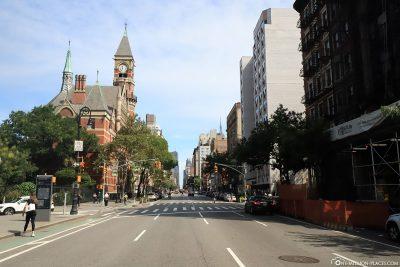 The Greenwich Village neighborhood