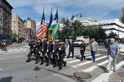 A parade of firefighters