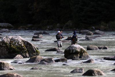 Angler im Chilkoot River