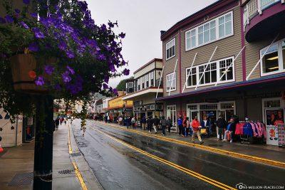 Die Innenstadt von Juneau