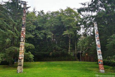 Der Totem Bight Park in Ketchikan