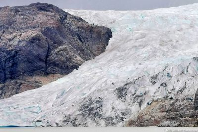 The ice of the glacier