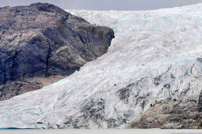 Das Eis des Gletschers