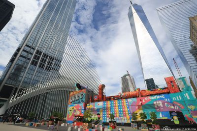 Streetart am World Trade Center
