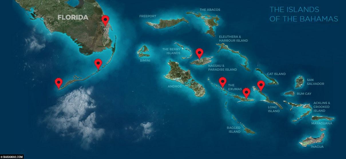 Bahamas Florida Karte