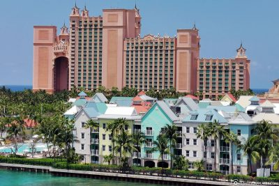 View of hotel Atlantis on Paradise Island