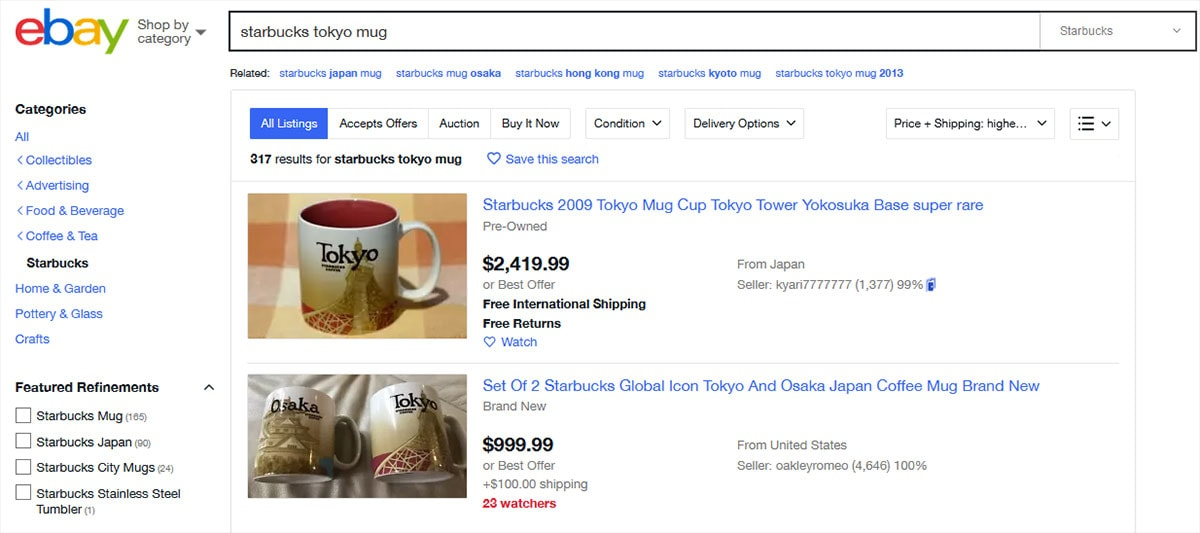 Starbucks City Mugs Collection, Preise, Ebay