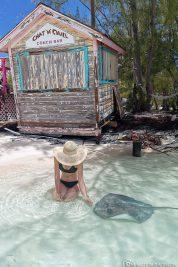 Die Stachelrochen auf Stocking Island