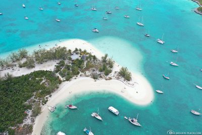 Drone footage of Stocking Island
