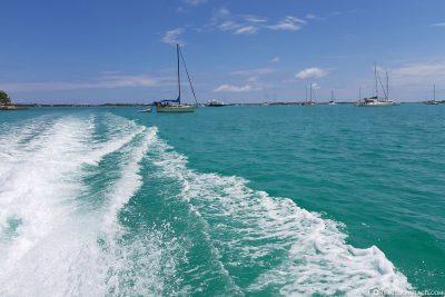 Bootsfahrt von George Town nach Stocking Island