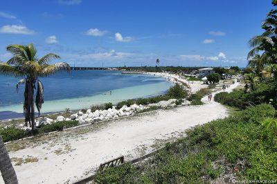 Blick auf den Calusa Beach