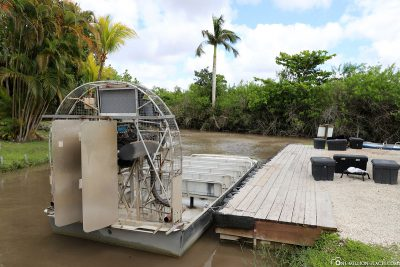 Der Start der Airboat Tour
