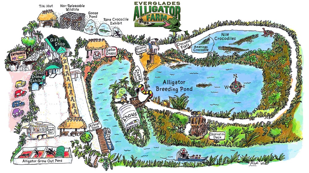 Everglades Alligator Farm, Map, Homestead, Plan, Travelreport, USA, Florida
