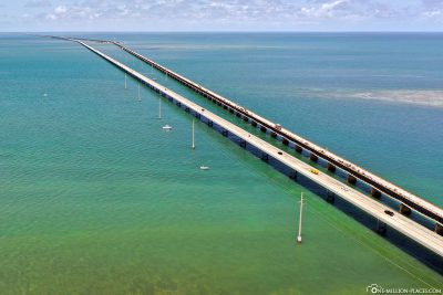 Die Seven Mile Bridge der Florida Keys