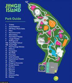 A map of Jungle Island