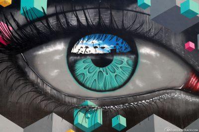 Auge als Wandmotiv
