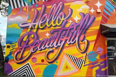 Hello Beautiful Graffiti