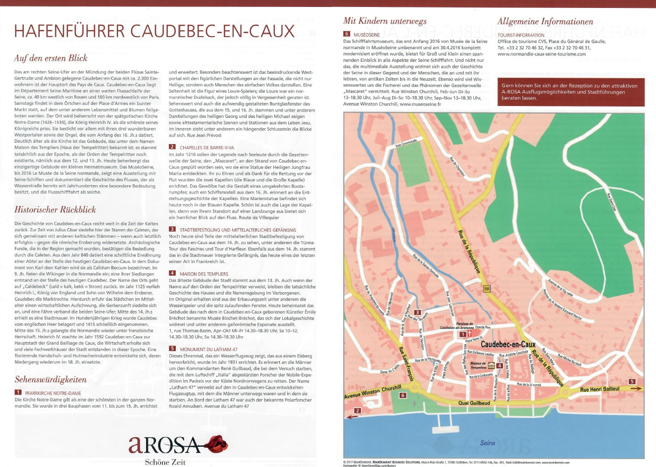 A-ROSA Hafenführer, Caudebec-en-Caux, Seine, Frankreich, Flusskreuzfahrt, Reisebericht