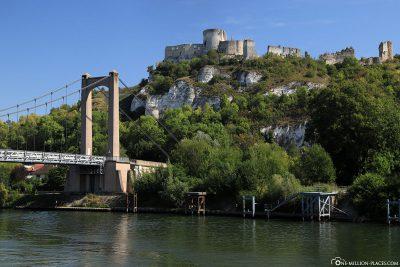 Blick auf das Château Gaillard von der Seine