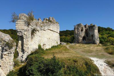 Die Ruinen der Burg Château Gaillard