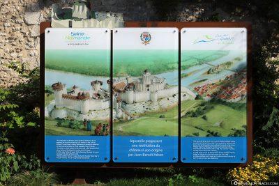 Rekonstruktion vom Chateau Gaillard