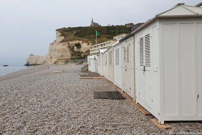 Der Strand von Étretat