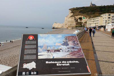 Die Strandpromenade von Étretat