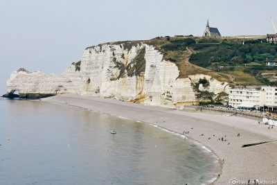 View of the cliff with the chapel