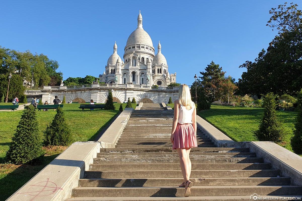 Treppen zur Basilica Sacré-Cœur, Paris, Fotospots, Sehenswürdigkeiten, Auf eigene Faust, Reisebericht, Frankreich, A-ROSA Flusskreuzfahrt