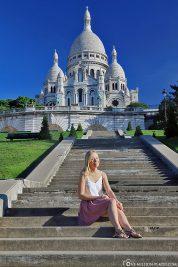 Blick vom Square Loise Michel auf Sacré-Coeur