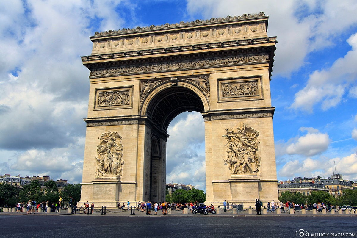 Arc de Triomphe de l'Étoile, Paris, Fotospots, Sehenswürdigkeiten, Flusskreuzfahrt, Auf eigene Faust, Reisebericht