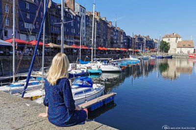 Blick auf den alten Hafen von Honfleur