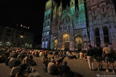 The light show at the cathedral
