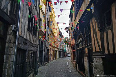 The small streets in the old town