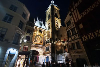 The large clock tower