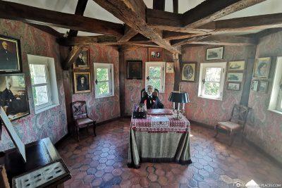 Das restaurierte Arbeitszimmer von Jules Michelet