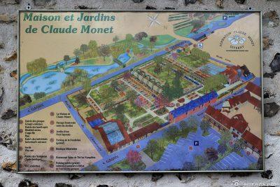 Karte von Monet's Haus & Garten