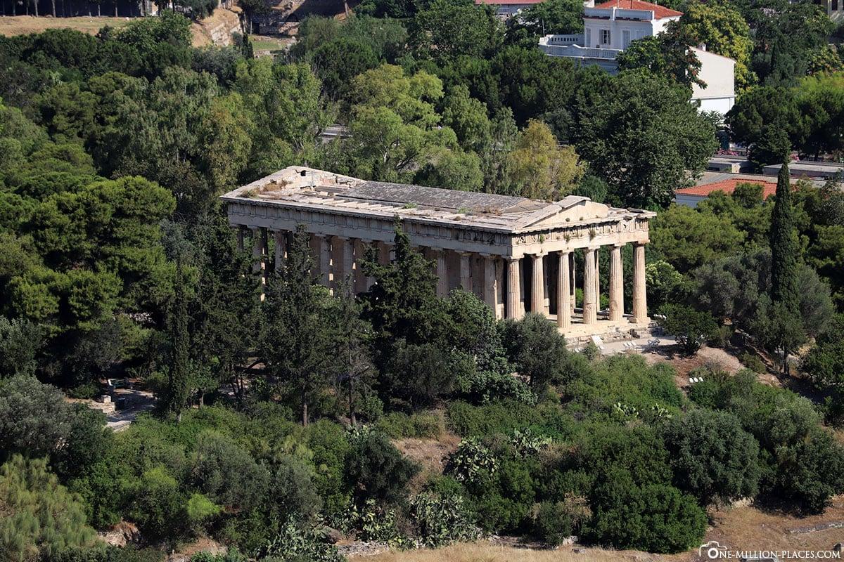 Athen, Athener Agora, Tempel des Hephaistos, Griechenland, Sehenswürdigkeiten, Reisebericht, Fotospot