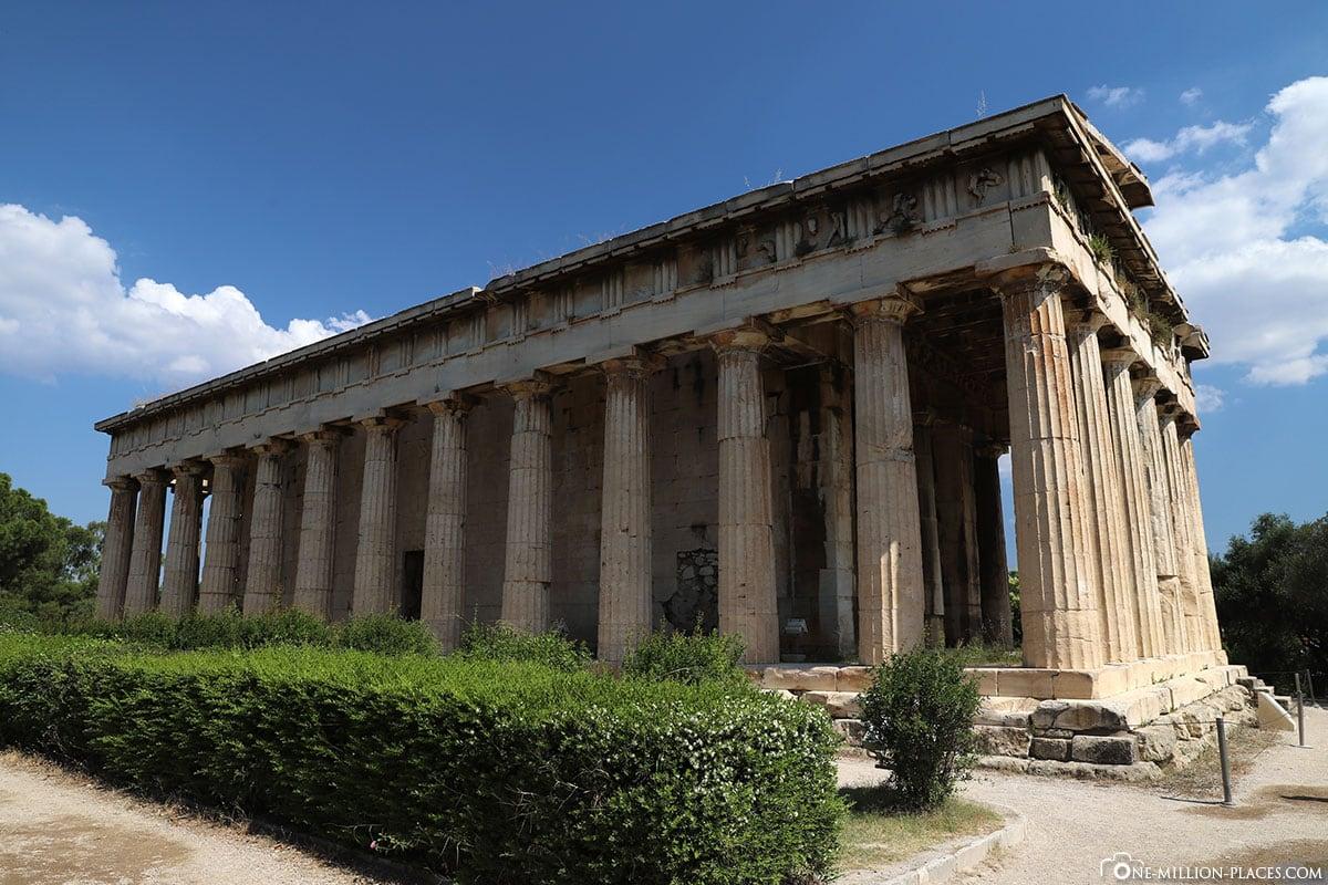 Tempel des Hephaistos, Athen, Athener Agora, Griechenland, Sehenswürdigkeiten, Reisebericht, Fotospot