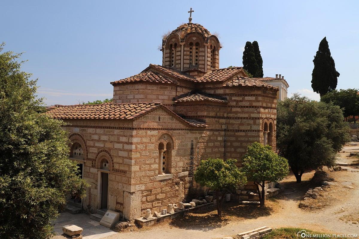 Church of the Holy Apostles, Athen, Athener Agora, Griechenland, Sehenswürdigkeiten, Reisebericht, Fotospot